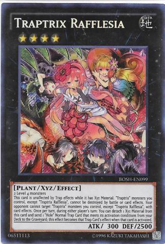 Yu-Gi-Oh! Losse kaarten BOSH-EN099 Traptrix Rafflesia Secret Rare 1st edition Mint YuGiOh Card