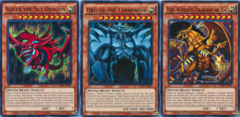 Set of All 3 Playable Egyptian God Cards: Slifer Obelisk Ra - Legendary Decks II - Ultra Rare