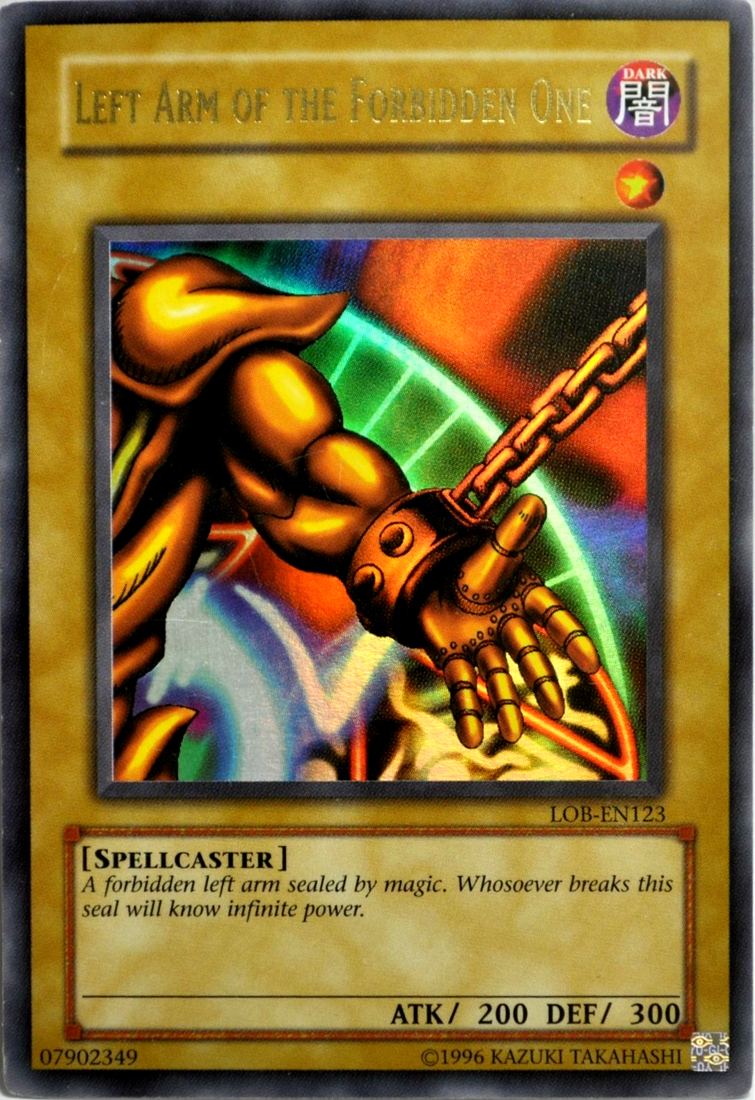 left arm of the forbidden one lob en123 ultra rare unlimited
