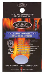 Max Protection Tournament Standard Size Blue Sleeves - 100ct