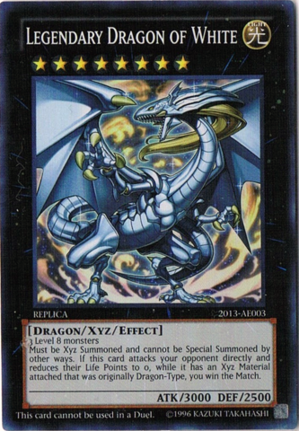 Legendary Dragon of White - 2013-AE003 - Super Rare