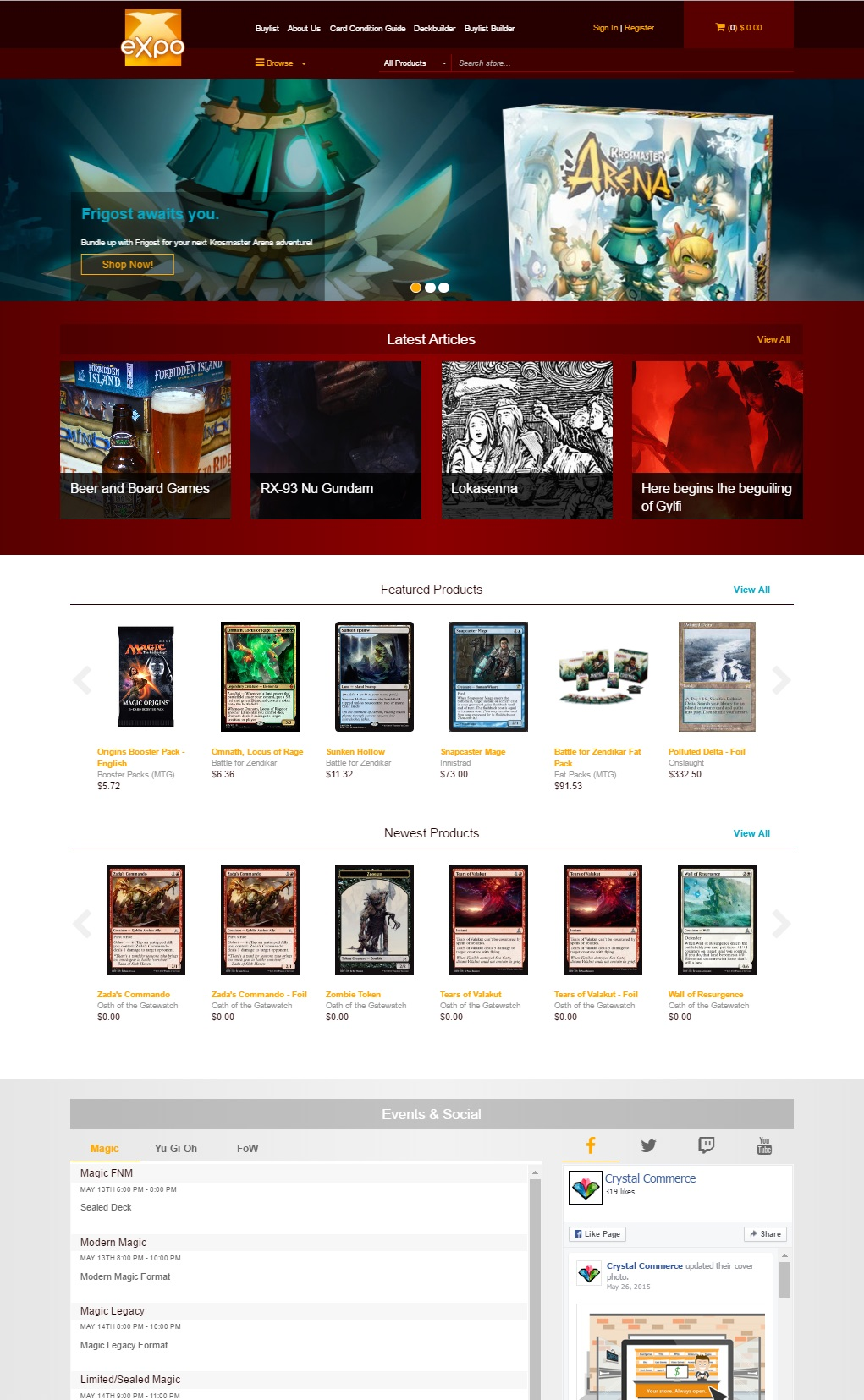 Expo Advanced Template - Website Templates - CrystalCommerce
