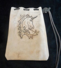 Nathan's Leatherworks Unicorn Dice Bag NLB-05 (7
