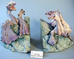 EN 2217 & 2218 Dragon Bookends Rare Enchantica Pieces