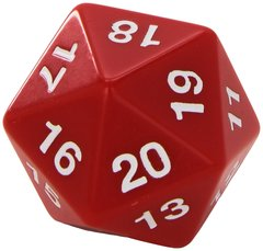 55mm Countdown D20 - Red