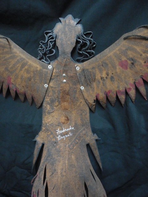 Leather Wall Hanging: The Harpie by Frederika Bagnato