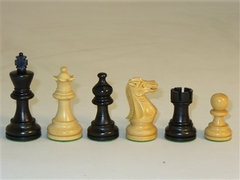 30BAE Black American Emperor Wood Chessmen