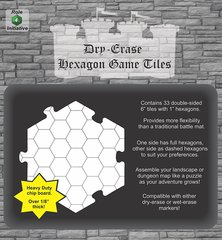 Dry Erase 6 inch Hexagon Tiles - Pack of 33