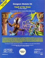 AD&D D3 - Vault of the Drow 9021 (1980 Cover)