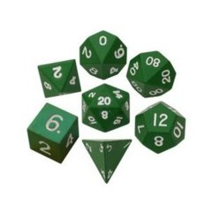 16mm Metal Polyhedral Dice Set - Green