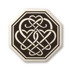Celtic Heart Octagon Pendant