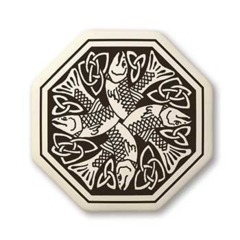 Celtic Fish Octagon Pendant