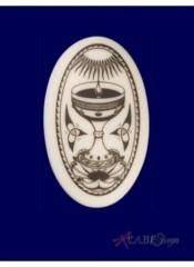 Celtic Holy Grail Oval Pendant