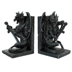 11135 Dragon Bookends