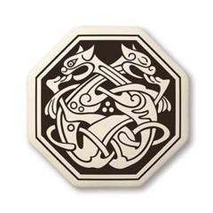 Celtic Cat Octagon Pendant