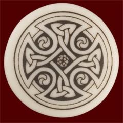 Celtic Cross Pendant - Sm Round