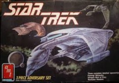Star Trek (Next Gen) AMT 3 Piece Adversary Model Set - Klingon Bird of Prey, Ferengi Marauder & Romulan Warbird