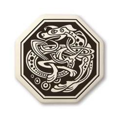 Celtic Dog Octagon Pendant