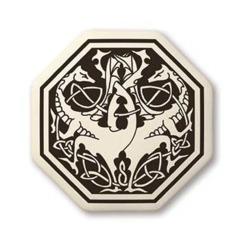 Celtic Dragon Octagon Pendant