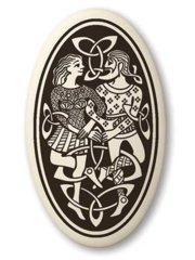 Celtic Divine Couple Oval Pendant