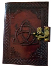 2548 - Triquertra Knot Embossed Leather Journal