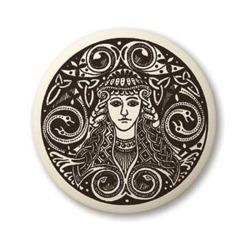 Celtic Brigantia Round Pendant