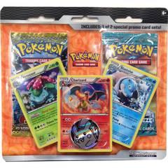 Pokemon 2015 BW 3-2-1 Blister Pack w/ Charizard, Blastoise & Venusaur