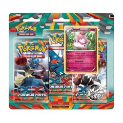 Pokemon XY Furious Fists 3 Booster Pack Blister Slurpuff Promo
