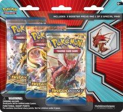 Pokemon XY Mega Evolution 3 Booster Pack Blister & Shiny Mega Gyarados Collectors Pin