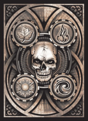 Death's Head Poker Face Legion Double Matte Standard Size Premium Gaming Card Sleeves (50 ct)