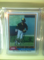 Ozzie Smith Autographed Card 207