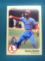 Ozzie Smith Autographed Card 22