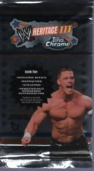 WWE TOPPS CHROME HERITAGE III TRADING CARD HOBBY PACK