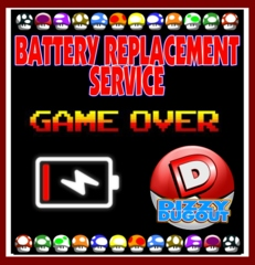 Battery Replacement Service forBATTERY REPLACEMENT SERVICE FOR NES, SNES, SEGA, GAME BOY, GBA, GBC
