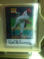 Bob Gibson Autographed Card
