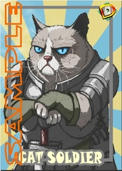 Cat Soldier Token – Custom: Grumpy Cat Warrior