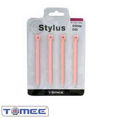 DS Lite / DSi Pink Stylus Pen 4 Pack - Tomee