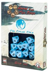 Legend of the Five Rings Crane Clan Dice Set Of 10 Dice (Q-Workshop)