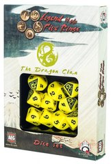 Legend of the Five Rings Dragon Clan Dice Set Of 10 Dice (Q-Workshop)