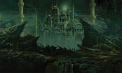 Artists of Magic Play Mat 21 THE DEAD CITY w/artwork by Rob Alexander