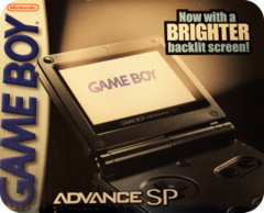 Game Boy Advance SP - AGS-101 - Pearl Blue