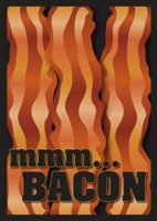 Bacon  Legion Standard Size Premium Gaming Card Sleeves (50 Ct)