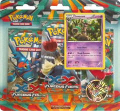 Pokemon XY Furious Fists 3 Booster Pack Blister Trevenant Promo