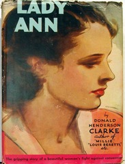 Lady Ann by Donald Henderson Clarke, Tower Books T-221 © 1946 w/ Dust Jacket