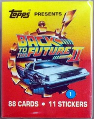Back to the Future 2 Card Set w/ Stickers © 1989 Topps