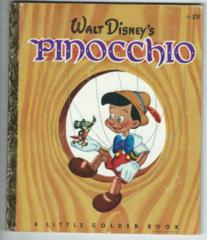 Walt Disney's Pinocchio © 1948 Little Golden Book D8