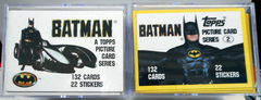 Batman Set 1 & 2 w/ Stickers Topps © 1989