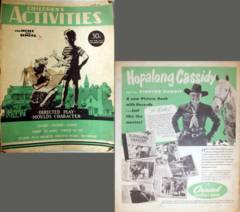 CHILDREN'S ACTIVITY Craft Book © 3/1950 w/ Hoppy Ad