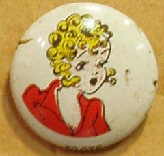 TOOTS Kellogg's Pep Pin Pinback Button