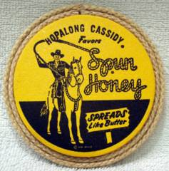 HOPALONG CASSIDY FAVORS SPUN HONEY COASTER